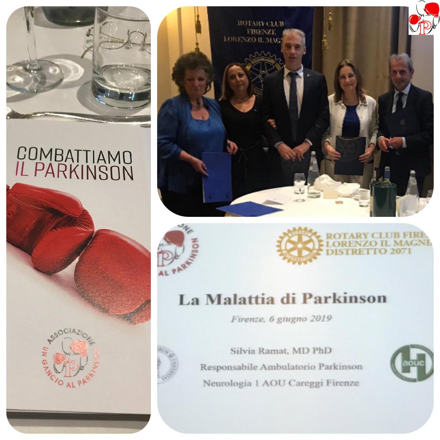 Cena organizzata dal Rotary per la presentazione dell'Associazione - Un Gancio al Parkinson