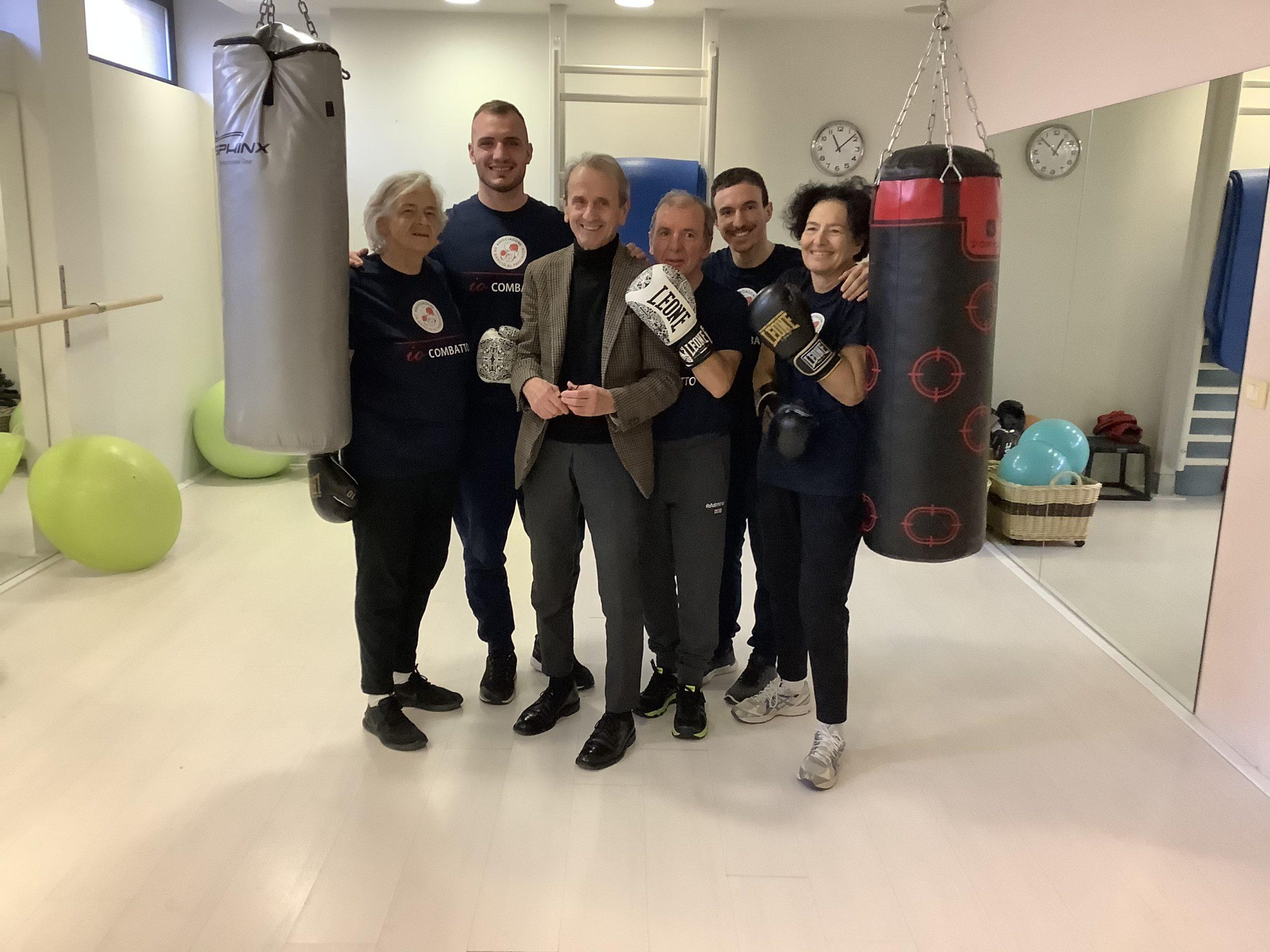 Un Campione di Boxe al Training Lab Firenze - Un Gancio Al Parkinson