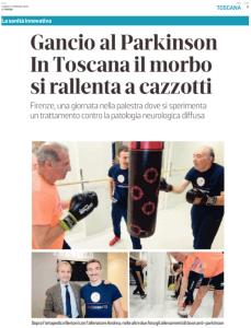 Un Gancio Al Parkinson - Il Tirreno - febbraio 2020