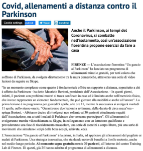 Ringraziamo Adnkronos, Firenze Today e Qui News Firenze - Un Gancio Al Parkinson