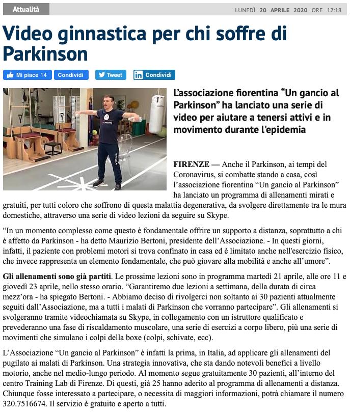QuiNews Firenze e Radio Toscana parlano delle nostre lezioni a distanza!